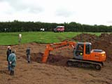 home close hole hymac dig