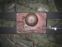 Signal bell at Radstock Museum (upside down)